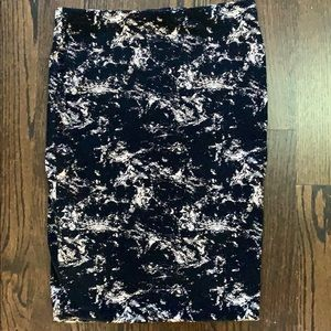 H&M Thick Cotton Pencil Skirt
